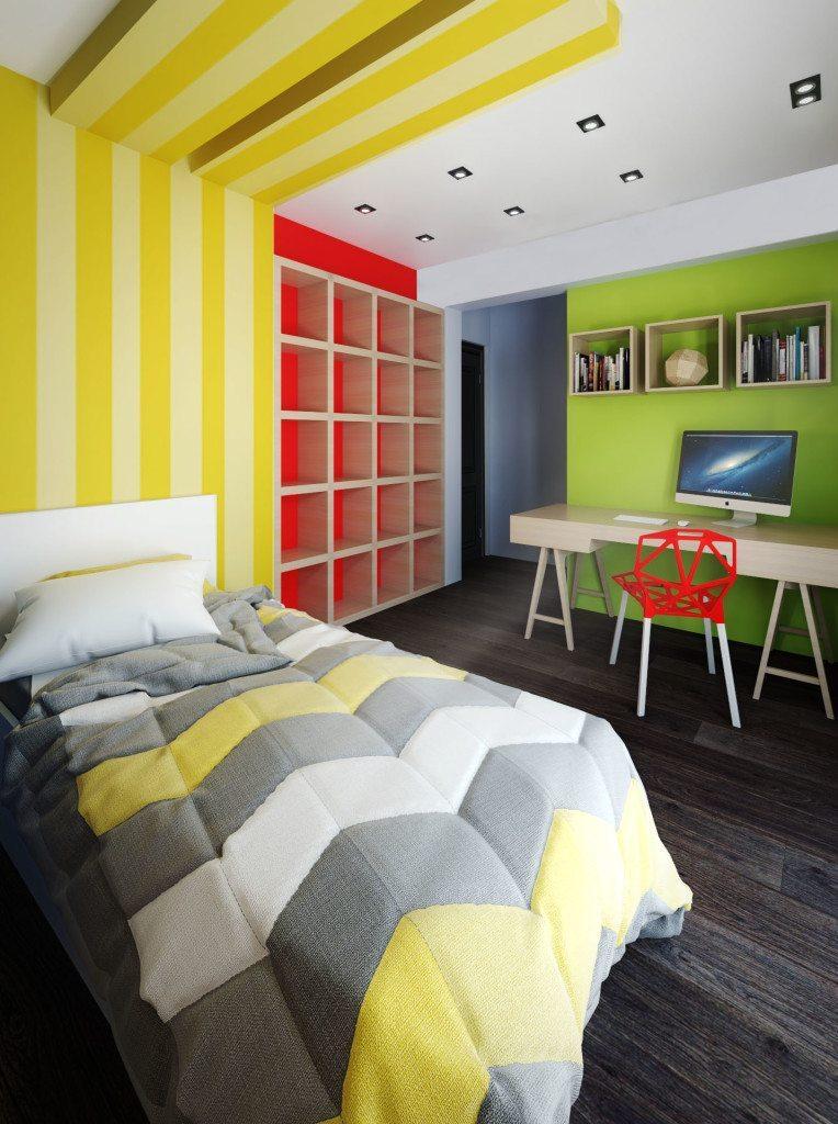 archicostudio_ren-m10_bedroom-green-wall