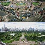 Bangkok, Thailand. 1988 vs 2007.