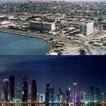 Doha, Qatar. 1977 vs 2010s.