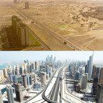 Dubai, UAE. 1990 vs Today.