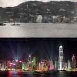 Hongkong. 1920s vs 2000s.