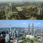 Kuala Lumpur, Malaysia. 1990 vs Today.