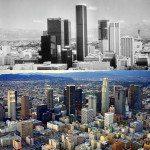 Los Angeles, USA. 1970s vs Today.