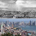 Panama City, Panama. 1930s vs Today.