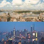 Shanghai, China. 1990 vs 2010.
