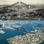 Sydney Harbour Bridge, Australia. 1930 vs Today.