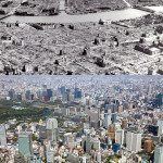 Tokyo, Japan. 1945 vs 2011.