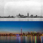 Toronto, Canada. 1930s vs Today.
